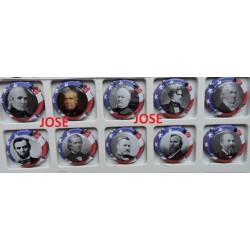 SERIE DE 10 CAPSULES DE CHAMPAGNE - MICHEL MARTIN (Présidents Américain) N°11 au 20