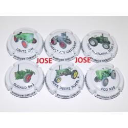 SERIE DE 6 CAPSULES DE CHAMPAGNE - PHILIPPE DOURY (Tracteurs)