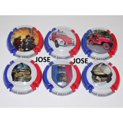 SERIE DE 6 CAPSULES DE CHAMPAGNE - GAILLARD José (Pompiers)