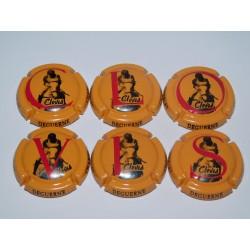 série de 6 capsules de champagne GUERLET DEGUERNE