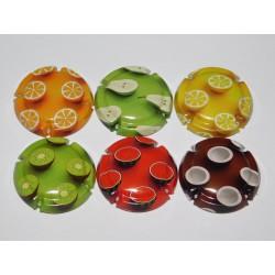 série de 6 capsules de champagne GENERIQUE (Fruits)