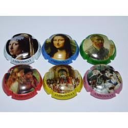 série de 6 capsules de champagne PATRICK DEMIERE (Peintures)