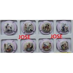 série de 6 capsules de champagne Jean DESPRET (3 ème série -Germaine Bouret)