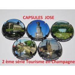 2 ème série de 5 capsules de champagne GENERIQUE (Tourisme en Champagne)