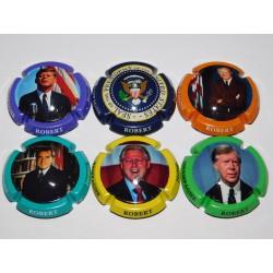 SERIE DE 6 CAPSULES DE CHAMPAGNE - JEROME ROBERT (Présidents Américain)