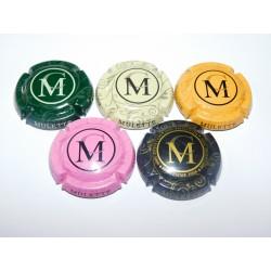 Lot de 5 capsules de champagne MULETTE CORBON