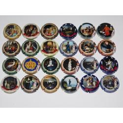 Série complète de 24 capsules de champagne - ARMAND BRUNO (Napoléon)