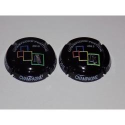 2 CAPSULES DE CHAMPAGNE - MARCEL RICHARD dont 1 en relief