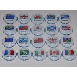 SERIE DE 20 CAPSULES DE CHAMPAGNE - ROGER CHEMIN (coupe du monde de Rugby)